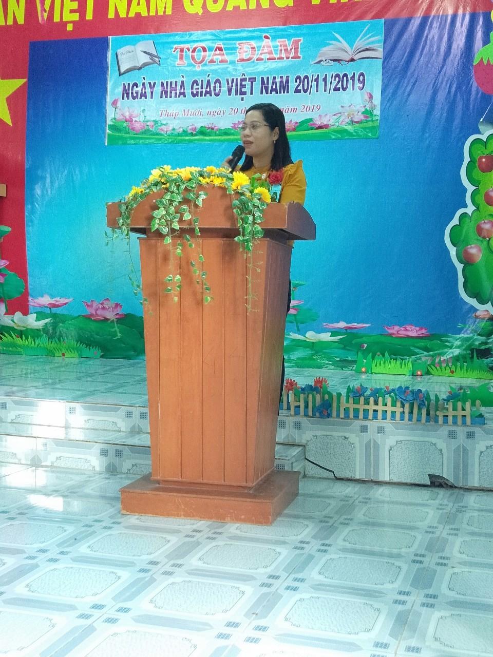 Hình ảnh: Đ/C Nguyễn Thị Tuyết Mai – ĐUV – PCTUBND – phát biểu
